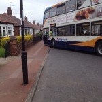No1 Bus Turning on Sackville Road